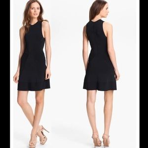 A.L.C. Kerry Knit Fit and Flare Black Dress Size M